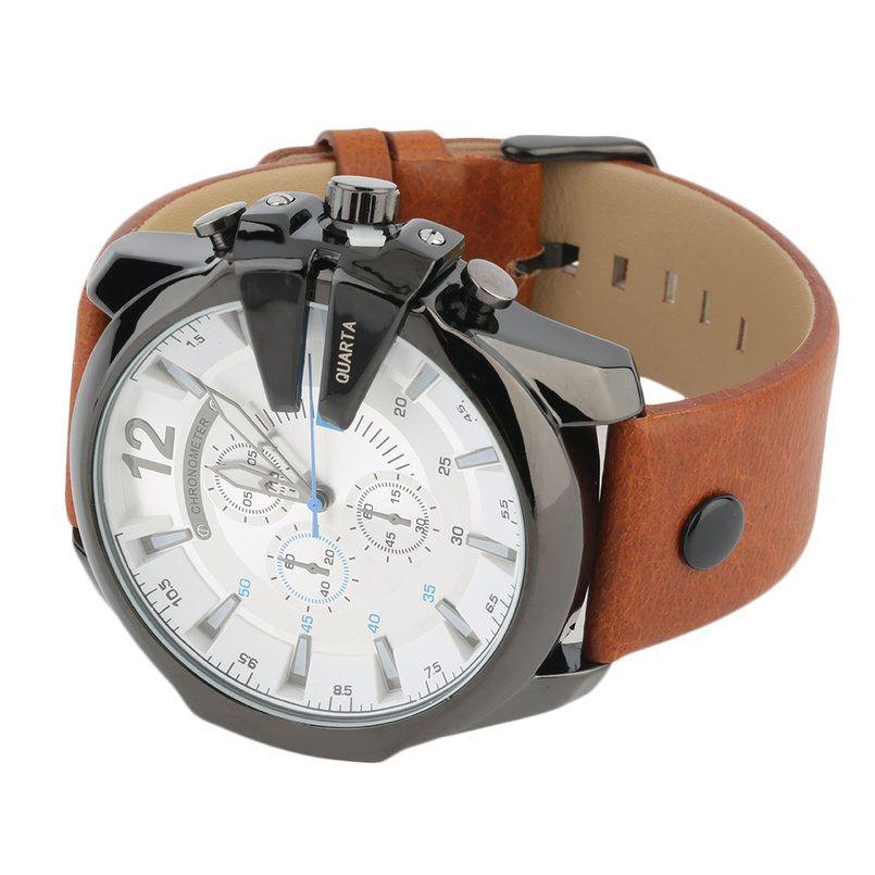 ee69203f463 Retro Styl vodotěsné hodinky Curren Quartz–Hnědočerné